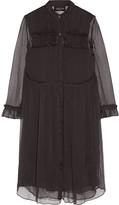 Needle & Thread Ruffle-trimmed georgette shirt dress