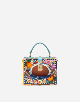 Dolce & Gabbana Dolce Box Bag In Hand-Painted Wood