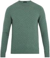 Zanone Crew-neck weave-knit wool sweater