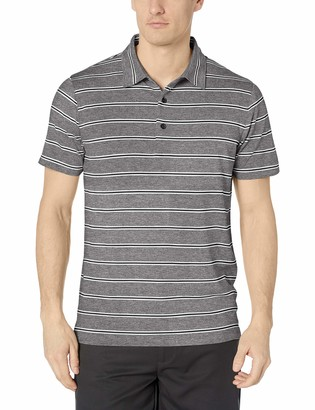Cutter & Buck Men's Drytec UPF 50+ Forge Heather Stripe Tailored Fit Polo Shirt