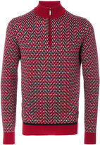 Brioni zipped collar sweater
