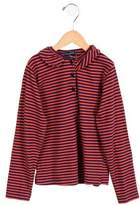 Oscar de la Renta Girls' Striped Long Sleeve Top