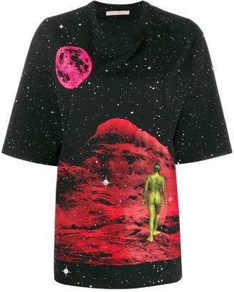 Christopher Kane Mountain Lady print T-shirt