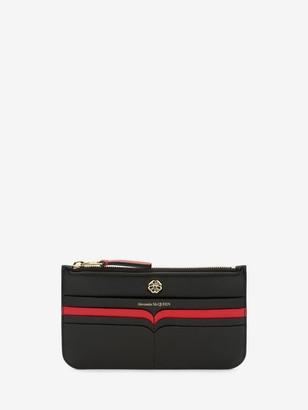 Alexander McQueen Signature Flat Zipped Wallet
