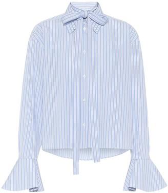 Valentino Striped cotton blouse