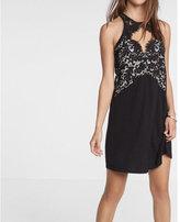 Express Lace Cut-out Trapeze Dress