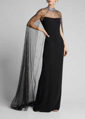 Jenny Packham Pearle Cape Gown