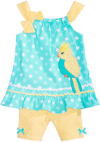 Nannette 2-Pc. Bird Cotton Top & Shorts Set, Baby Girls (0-24 months)