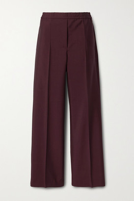 Acne Studios Wool And Mohair-blend Straight-leg Pants - Burgundy