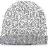 Sofia Cashmere Women's Fair Isle Hat, Grey