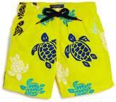 Vilebrequin Boys' Jam Multicolored Turtle Print Swim Trunks
