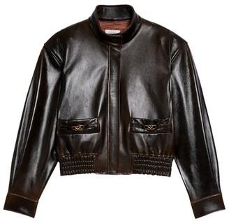 Sandro Paris Leather Aviator Jacket