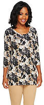 Isaac Mizrahi Live! Wildflower Floral Print Knit Tunic