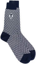 Alexander McQueen diamond knit skull socks