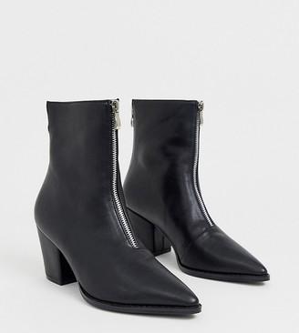Z Code Z Z_Code_Z Exclusive Hua black zip front boots