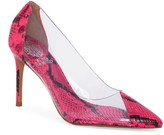 Vince Camuto Poised Cap Toe Clear Pump