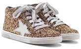 Lelli Kelly Kids Laila Gold Star Sequinned Trainers