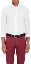 Boglioli Men's Solid Poplin Shirt-WHITE