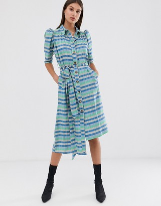 ASOS stripe belted shirt dress