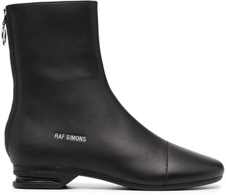 Raf Simons Logo-Lettering 35mm Ankle Boots