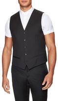 The Kooples Wool Back Belt Vest