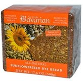Bavarian Breads B34823 Bavarian Breads Sunflower Seed Rye Bread -6x17.6oz