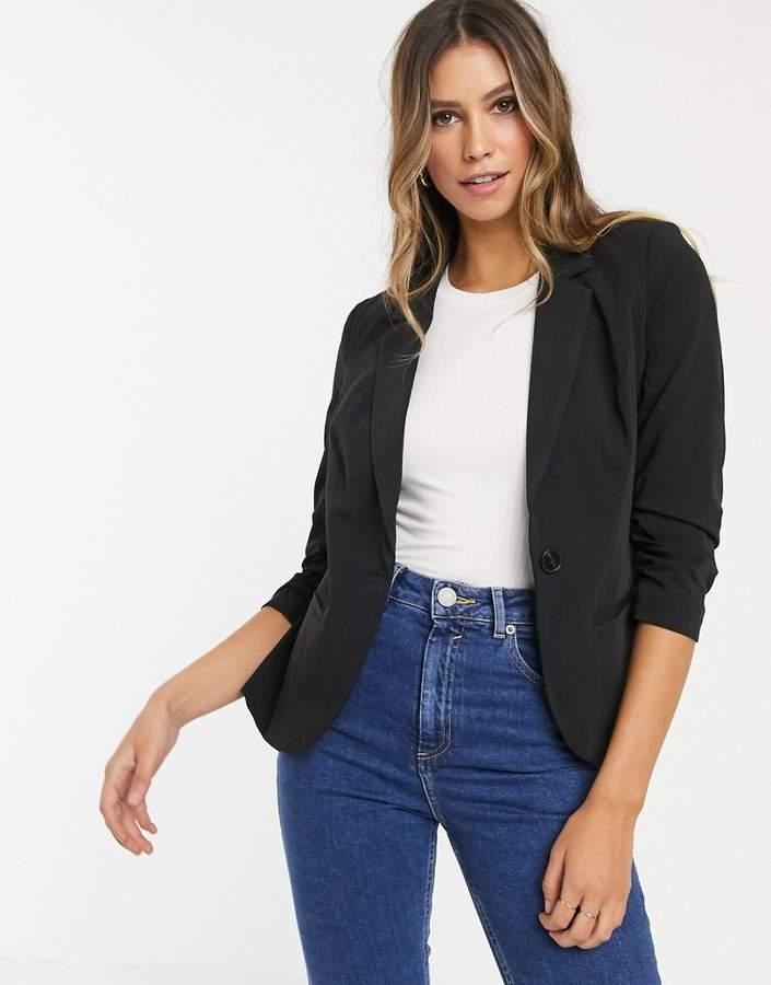 Vero Moda gathered sleeve blazer