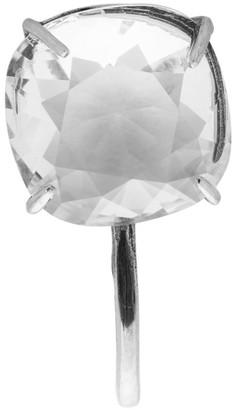 Alexander McQueen Silver Crystal Brooch Earring
