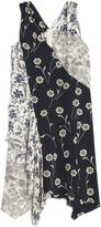 Derek Lam 10 Crosby Asymmetrical Patchwork Dress-