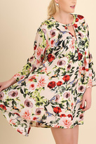 Umgee USA Floral Print Swing Dress
