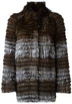 Yves Salomon mid-length coat - women - Cotton/Fox Fur/Spandex/Elastane - 40