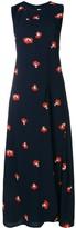 Victoria Beckham racerback long embroidered dress
