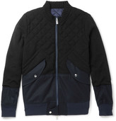 Sacai - Panelled Cotton-blend And Quilted Wool Bomber Jacket