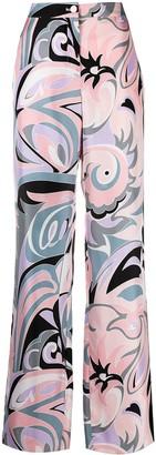 Emilio Pucci Dinamica Degrade-print straight-leg trousers