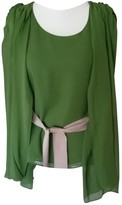 Adolfo Dominguez Green Silk Top for Women