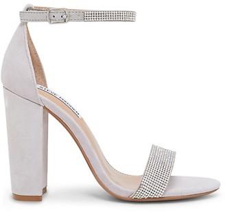 Steve Madden Kalina Embellished Suede Ankle-Strap Sandals