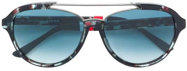 Orlebar Brown x Linda Farrow square-frame sunglasses