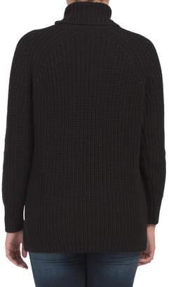 Tweed Cotton Turtleneck Tunic