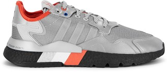 adidas Nite Jogger Silver Panelled Mesh Sneakers