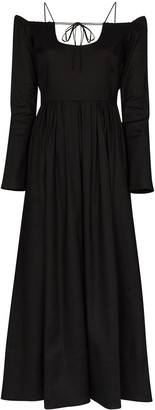 By Any Other Name Pastoral long off-the-shoulder dress