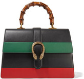 Gucci Dionysus Bamboo Large Paneled Leather Tote - Black