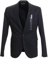 DSQUARED2 Black Stretch Wool Blazer