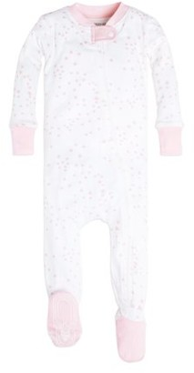Burt's Bees Baby Organic Cotton Baby Girl 1-Piece Snug Fit Footie Pajamas