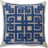 The Well Appointed House Surya Navy and Light Gray Gramercy Pillow-Available in Three Different Sizes