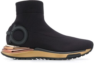 Salvatore Ferragamo Gardena High Top Sneakers