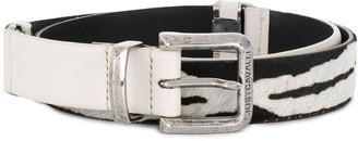 Just Cavalli Leather And Pony Belt