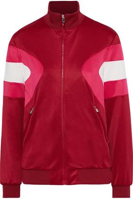 Maje Color-block Stretch-knit Track Jacket