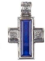 Konstantino Men's Hephaestus Sterling Silver & Lapis Cross Pendant