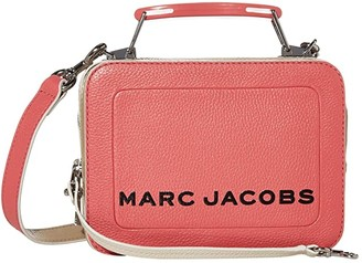 Marc Jacobs The Box 20 Textured Color Blocked (Flirt Pink Multi) Handbags