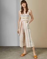 Ted Baker Striped Linen Jumpsuit